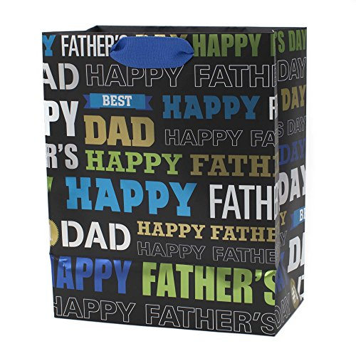 Hallmark Father's Day Medium Gift Bag with Tissue Paper (Dad Words) (Fathers Days Gift)