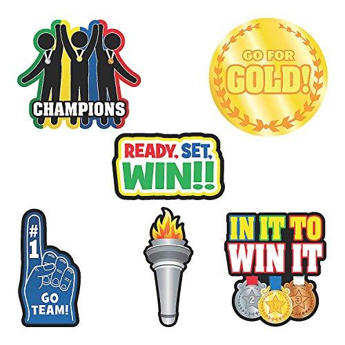 Fun Express - Jumbo Award Cutouts - Party Decor - Wall Decor - Cutouts - 6 -
