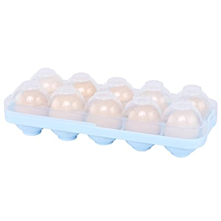 Bandeja de plástico para huevos de frigorífico con tapa apilable ...