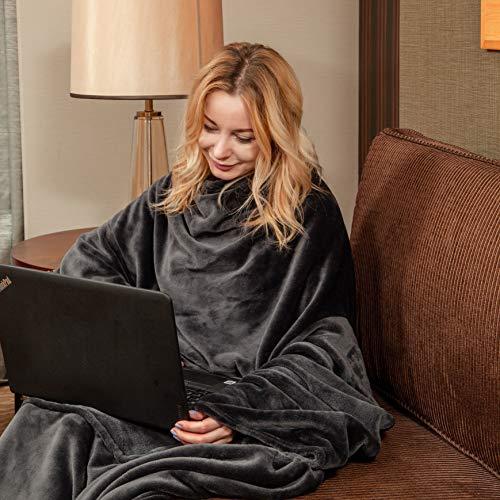 Wearable Fleece Blanket with