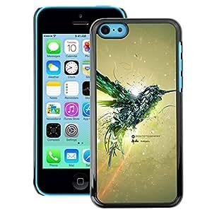 Snap-on Series Teléfono Carcasa Funda Case Caso para iPhone 5C , ( Mechanic Colibri Bird )