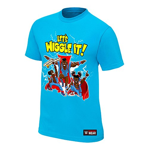 WWE The New Day Let's Wiggle It Authentic T-Shirt Light Blue 3XL by WWE Authentic Wear