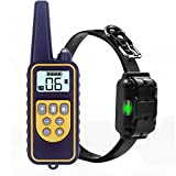 Dog Training Collar with Remote, TENTEN Rechargeable and Waterproof Dog Shock Collar for All Size Dogs, 800 Yards Range E-collar with Beep/Vibration/Shock/LED Light