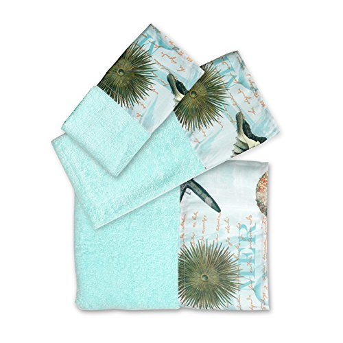 Popular Bath Bath Towels, Atlantic Collection, 3-Piece Set, Aqua