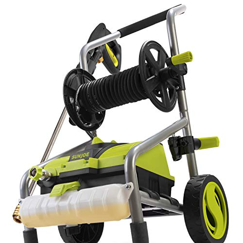 Sun Joe SPX4001-PRO 2030 PSI 1.76 GPM 14.5 Amp Electric Pressure Washer and Hose Reel, Green