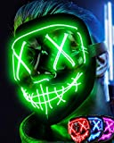 Colplay LED Light Up Scary Halloween,Rave Glow