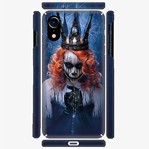 Phone Case Compatible with 3D Printed iPhone X/XS DIY Fashion Picture,Art Halloween Evil Face Bizarre Make Up Zombie,Personalized Designed Hard Plastic Cell Phone Back Cover Shell -