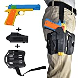 Teanfa Classic m1911 Toy Gun and Thigh Tactical Gun Holder,Kids Colorful Toy Gun with Soft Bullets,Teach Shooter and Gun Safety,Real Dimensions,Fun Outdoor Game