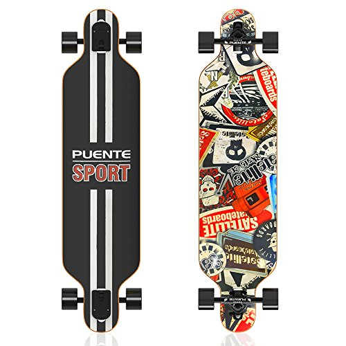 [Cyber Monday Deal] Greatever Cruising Skateboard Drop Down Longboard Complete 41 Inch (ODSB017)