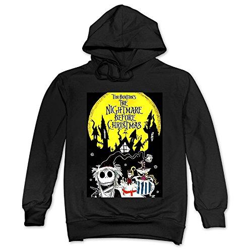 (ITMEIAL Men's The Nightmare Before Christmas Hooded Sweatshirt Black)