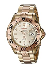 Invicta Men's 16039 Pro Diver Analog Display Japanese Automatic Two Tone Watch
