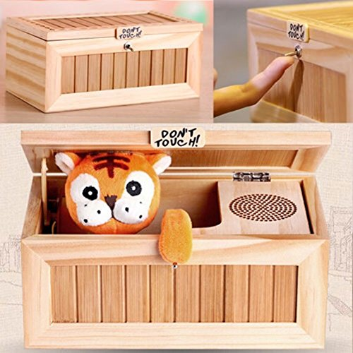 FANKUTOYS Lovely Tiger Don't Touch Useless Box Leave Me Alone Machine Toys For Best Gifts