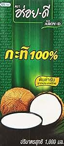 Aroy-D 100% Coconut Milk, 33.8 Ounce (Pack of 3)