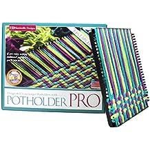 "Harrisville Designs 10"" Potholder (PRO Size) Loom Kit, Makes 2 Potholders"