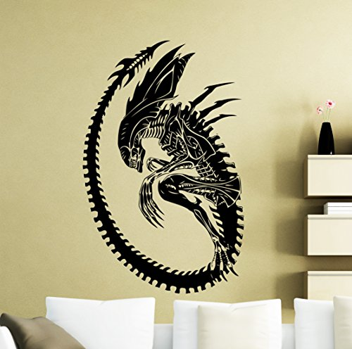 Alien Wall Decal Monster Horror Movie Vinyl Sticker Home Kid