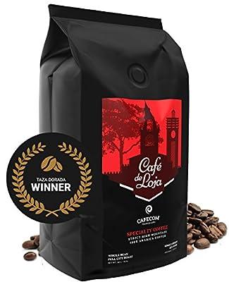 Café de Loja AWARD-WINNING Specialty Coffee Beans Medium/Dark Roast (2 Lbs Bag) - 6398ft. High Altitude Single Origin Organic Coffee- Best Arabica Whole Bean Coffee For Espresso, Drip and more by Cafecom S.A
