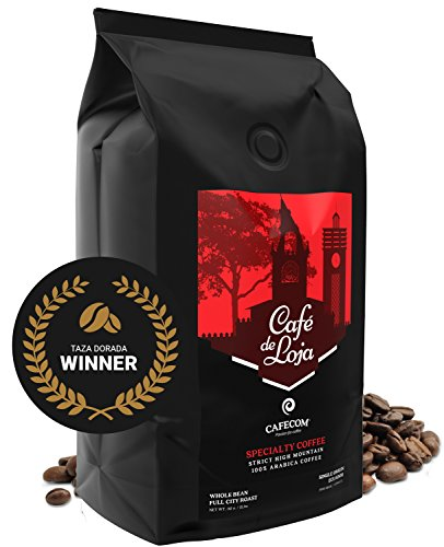Café de Loja 6233 ft. -Specialty Coffee- Best Arabica Whole Bean Coffee (2 Lbs Bag)- Medium/Dark Roast Single Origin - Strictly Hard Bean (SHB)- Organic High Altitude GMO Free - AWARDED Beans