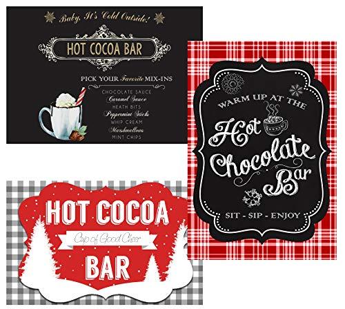 Hot Chocolate Cocoa Bar Party Supply Decorations and Invitations (Poster Decor) 3 - Invitations Chocolate Wedding