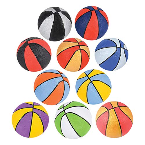 (Kicko Assorted Colors Mini Basketball - Pack of 10 5