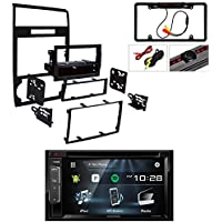 Metra 99-6519B Single/Double DIN Installation Dash Kit for Select Dodge Vehicles W/ Kenwood DDX24BT Double DIN Bluetooth Stereo with 6.2 inch Display + Car License Plate Rearview Camera