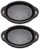 Old Mountain Preseasoned Cast iron Single Serve Dish (Oval Two Pack)