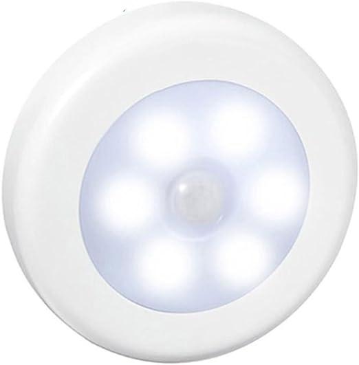 Vinciann Luz nocturna lámpara sensor movimiento IR PIR 6 LED armario escaleras noche oscuro: Amazon.es: Iluminación