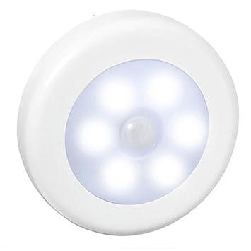 Vinciann luz nocturna lámpara Sensor Movimiento IR PIR 6 LED nocturna armario escaleras en la oscuridad: Amazon.es: Electrónica
