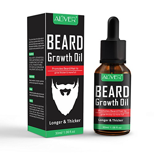 Beard Oil for Men Care, Natural Unscented Beard Growth Oil for Fuller and Thicker Beard, Best Organic Mustache Conditioner Softener (30ml)