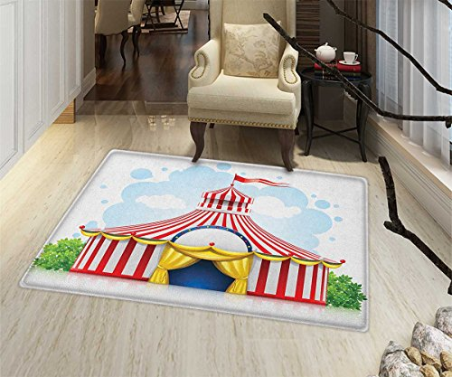 Circus Door Mats for home Striped Strolling Circus Marquee T