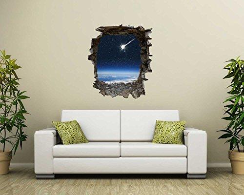 Para pared con diseño de estrellas fugaces en 3D-con aspecto de ...