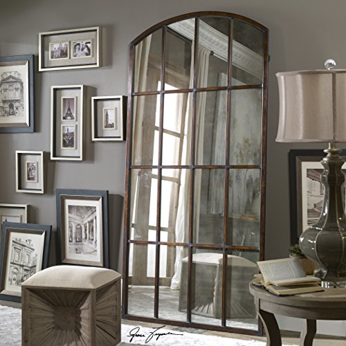 Antiqued WINDOW MIRROR Floor Leaner product image