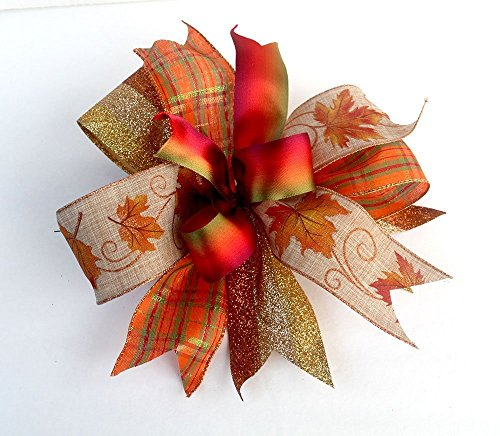 (Fall bow for wreaths and lanterns, autumn decorations)