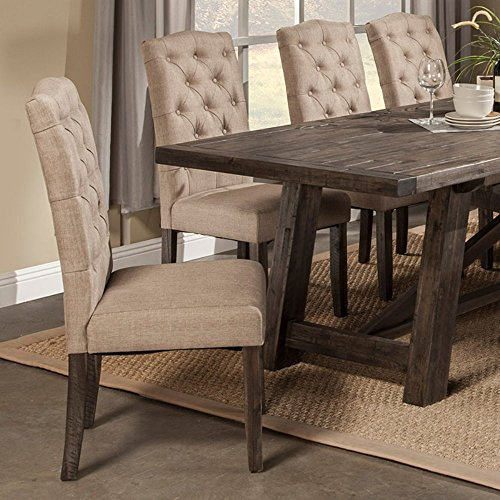 Alpine Furniture Newberry Parson Chairs - Set of 2 (Rustic Dining Room Furniture Sets)