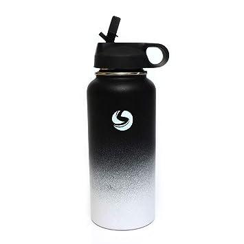 Amazon.com: Botella de agua deportiva de acero inoxidable ...