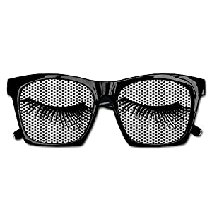 TyYJ Eyelashes Decoration Visual Mesh Lens Sunglasses Resin Frame Eyewear Party Favor Gifts