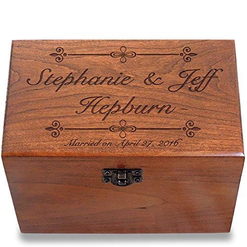 Wedding Recipe Box Cherry Wood Bliss by Cookbook People ()