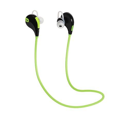 SMARTEX | Auriculares Bluetooth 4.1 Verde, Auriculares Wireless con microfono para Deporte y Compatible con
