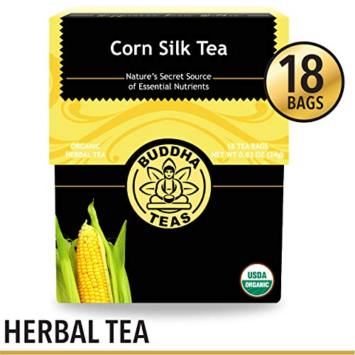Organic Corn Silk Tea, 18 Bleach-Free Tea Bags - Caffeine Free, Natural Source of Vitamins and Antioxidants, Supports Urinary Tract Health, Non-GMO ()