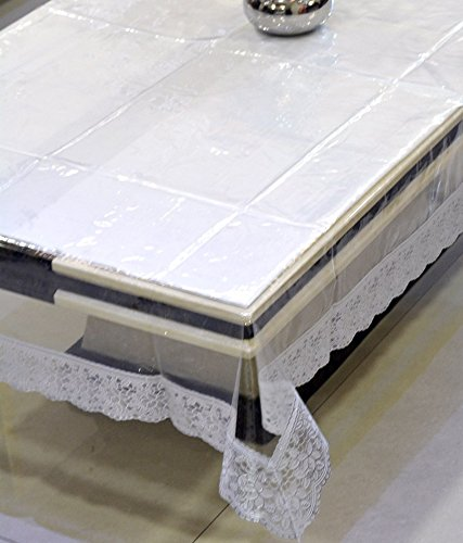Aakarshan Transparent PVC Table Cover with Silver Border <span at amazon