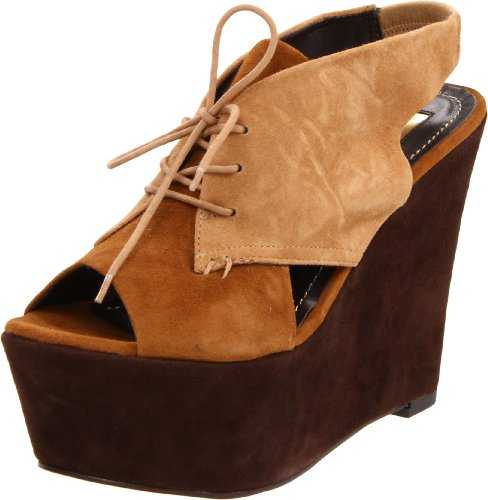 Report Signature Women's Malverne Wedge Sandal,Brown,8.5 M US