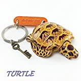TURTLE 3D Animal Style So Cute Handcraft Leather Keychain Keyring Made in THAILAND