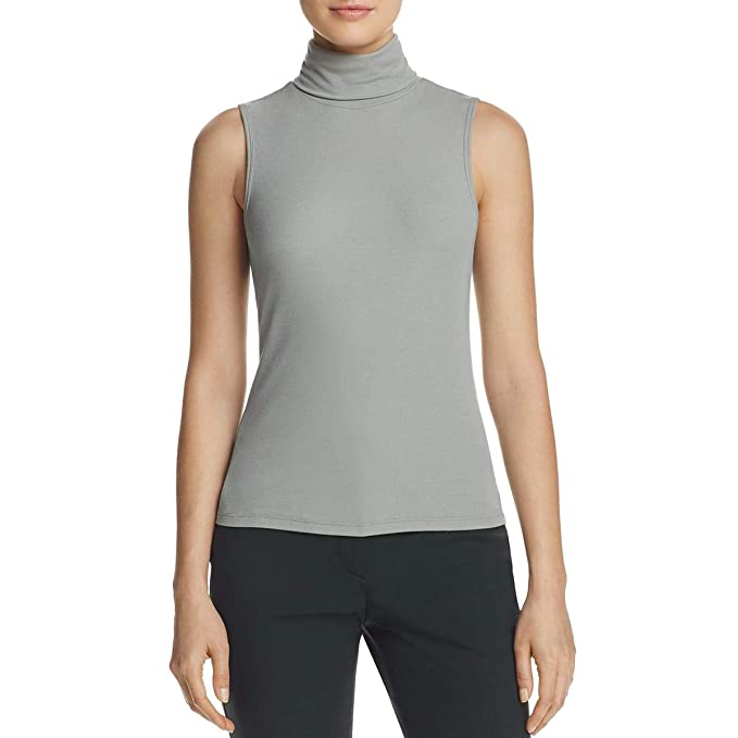 09ef214ae585b Theory Womens Wendel Ribbed Knit Sleeveless Turtleneck Top  Amazon.ca   Clothing   Accessories