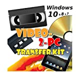 Video-2-PC DIY Video Capture Kit. For Windows 8.1, 8, 7, Vista & XP. Links your VCR or Camcorder to the USB port on your PC. Copy, Convert, Transfer: VHS, Video-8, VHS-C, Hi8, Digital8, & MiniDV video tapes to digital format H.264, MPEG, MPEG-2, MPEG-4 & uncompressed AVI files & burn to DVD. Tested with Windows 8.1 & Windows 7 32 & 64 bit, Vista & XP. 28 day refund offer if not completely delighted.
