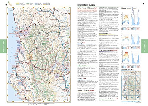 California Road And Recreation Atlas Benchmark Atlas Import It All