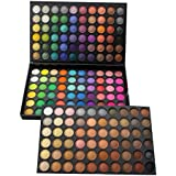 Makeup Eyeshadow Palette ,180 Colors Fashion Eye shadow Glitter Cosmetic Palette Matte Concealers Camouflage Shadow black Pallet