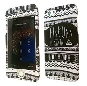 iphone 5 5S Vintage Aztec Hakuna Matata Design Fashion Trend Full case Cover Front&Back