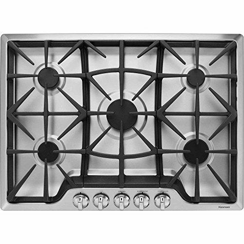 "Kenmore 32683 30"" 5 Burner Gas Cooktop in Stainless Steel, i"