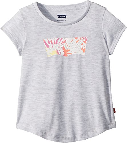 Levi's Girls' Toddler Batwing T-Shirt, Light Grey Heather, ()