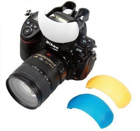 BlueBeach Pop Up Flash Diffuser with Orange, White and Blue colour Filter compatible with Canon Nikon Sony Pentax Panasonic Fuji JVC Kodak DSLR Digital Camera Flash