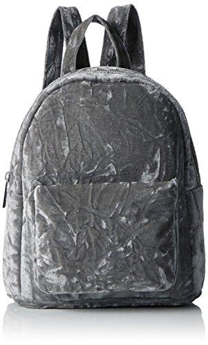 Look Grey Mid Womens Handbag Backpack Mini Velvet Grey New RnwOxvgg